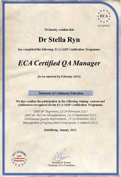 gmp and gdp certification programme - eca academy