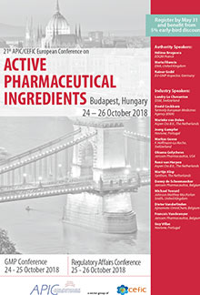 21st APIC/CEFIC European Conference on Active Pharmaceutical Ingredients (GMP Part)