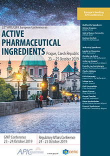 22nd APIC/CEFIC European Conference on Active Pharmaceutical Ingredients (GMP Part)