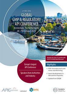 23rd APIC/CEFIC Global GMP & Regulatory API Conference 2020