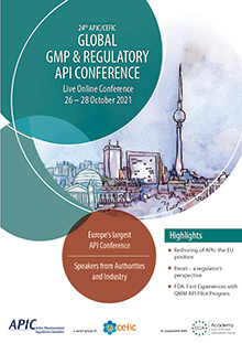 24th APIC/CEFIC Global GMP & Regulatory API Conference - Part 2 - in Berlin or online