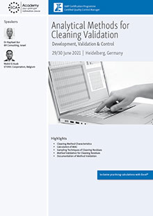 Analytical Methods for Cleaning Validation