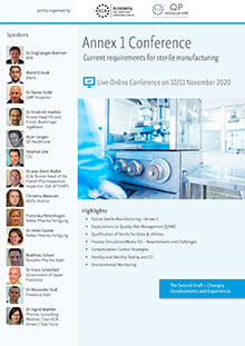 Live Online Conference -  Annex 1 - Current Requirements for sterile Manufacturing