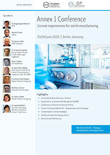 Annex 1 Conference  -  Current Requirements for Sterile Manufacturing