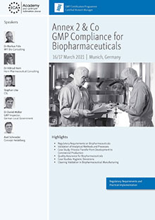 Annex 2 & Co - GMP Compliance for Biopharmaceuticals