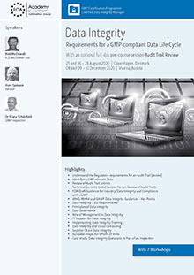 Data Integrity - Requirements for a GMP-compliant Data Life Cycle