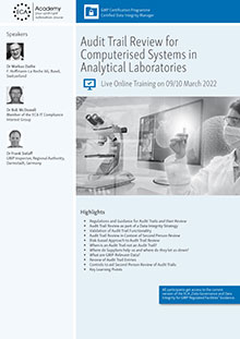 Live Online Training: Audit Trail Review for Computerised Systems in Analytical Laboratories