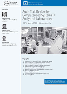 Audit Trail Review for Computerised Systems in Analytical Laboratories