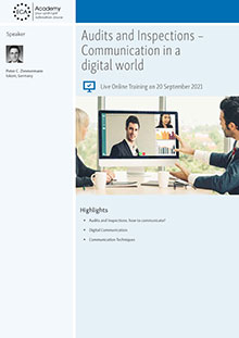 Live Online Training: Audits and Inspections - Communication in a digital world
