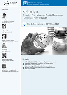 Live Online Training: Bioburden - Regulatory Expectations and Practical Experiences