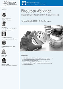 Bioburden Workshop  -  Regulatory Expectations and Practical Experiences<br>