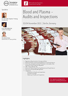 Blood and Plasma – Audits and Inspections