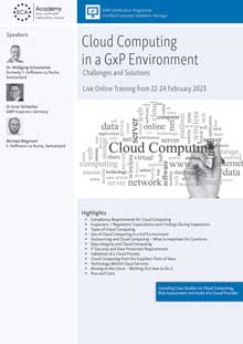 Live Online Training: Cloud Computing in a GxP Environment  - Challenges and Solutions