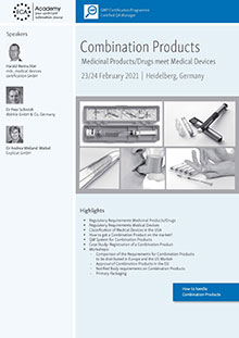Combination Products<br>Medicinal Products/Drugs meet Medical Devices