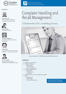 Complaint Handling and Recall Management