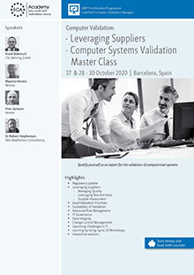 Computer Validation: Leveraging Suppliers + Computer Systems Validation Master Class