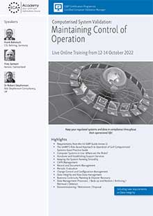 Live Online Training: Computer Validation: Maintaining Control of Operation