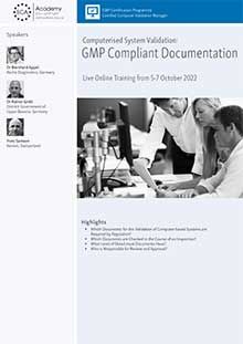 Live Online Training: Computerised System Validation - GMP Compliant Documentation