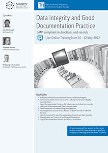 Live Online Training - Data Integrity and Good Documentation Practice