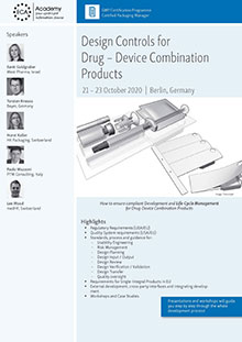 Design Control for Drug - Device Combination Products