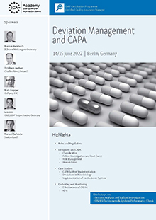 Deviation Management and CAPA