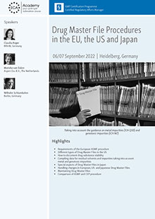 Drug Master File Procedures in the EU, the US and Japan