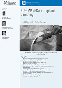 EU GMP-/FDA-compliant Sampling