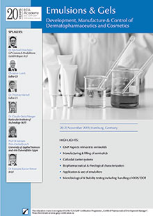 Emulsions & Gels - Development, Manufacture & Control of Dermatopharmaceutics and Cosmetics