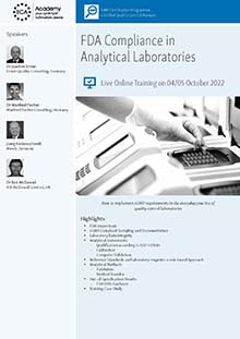 Live Online Training - FDA Compliance in Analytical Laboraties