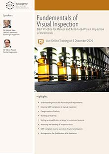 Live Online Training: Fundamentals of Visual Inspection