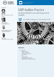 Live Online Training: GMP-Auditor Practice