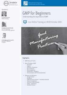 Live Online Training - GMP for Beginners - Understanding the Importance of GMP<br>