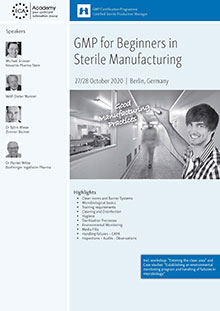 GMP for Beginners in sterile manufacturing + Process Simulation