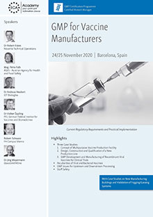 GMP for Vaccine Manufacturers