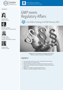 Live Online Training: GMP meets Regulatory Affairs