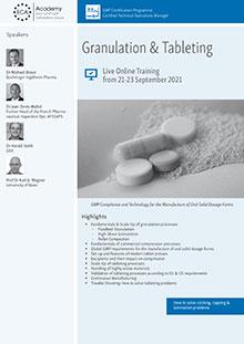 Live Online Training: Granulation & Tableting