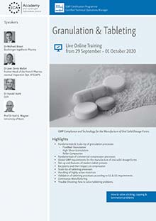 Live Online Training - Granulation & Tableting