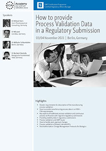 How to provide process validation data in regulatory submissions