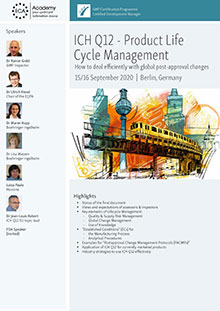ICH Q12 Life Cycle Management & ICH 2/ICH Q14 Analytical Procedure Life Cycle Management