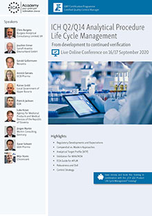 Live Online Conference: ICH Q2/ICH Q14 Analytical Procedure Life Cycle Management