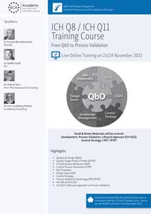 Live Online Training: ICH Q8 / ICH Q11 Training Course<br>