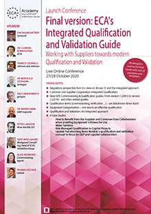 Live Online Conference: Launch Conference <br>Final version: ECA's Integrated Qualification and Validation Guide