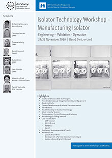 Isolator Technology Workshop - Manufacturing Isolator