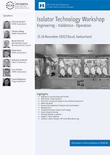 Isolator Technology Workshop - Engineering, Validation, Operation