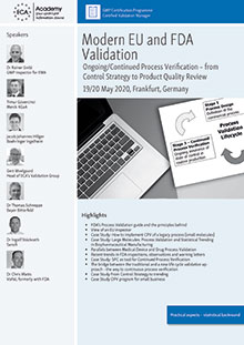 Modern EU and FDA Validation: Ongoing/Continued Process Verification from Control Strategy to Product Quality Review