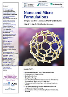Nano and Micro Formulations - An ECA Academy, Loewe Center of Translational Medicine and Fraunhofer Institute for Molecular Biology and Applied Ecology (IME) JOINT CONFERENCE