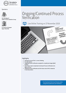 Live Online Training: Ongoing/Continued Process Verification
