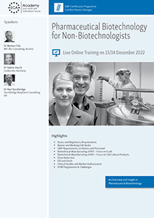 Live Online Training - Pharmaceutical Biotechnology for Non-Biotechnologists
