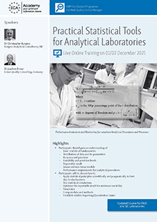Live Online Training: Practical Statistical Tools for Analytical Laboratories