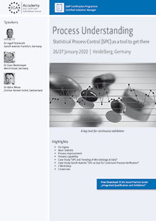 Process Understanding - Statistical Process Control (SPC) as a tool to get there